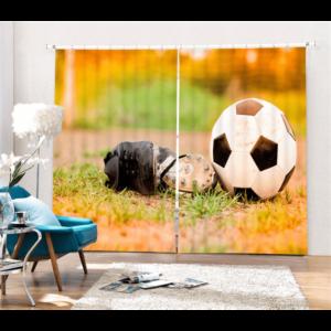 Voetbalschoen 3D gordijnen