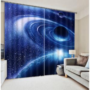 Melkweg 3D gordijnen blauw