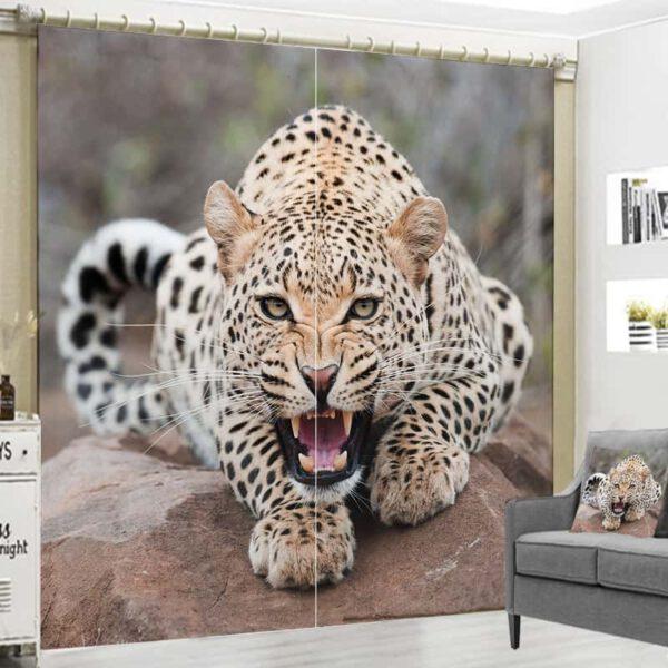 Grote collectie 3D foto gordijnen dieren