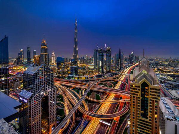 Skyline Dubai by Night