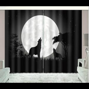 Nacht wolven 3D gordijnen